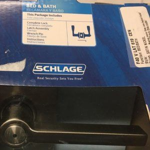 Schlage Bed Bath Complete LatchLock Assembly Satin